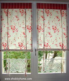 Shabby Home: Tutorial como hacer cortinas Shabby-Chic