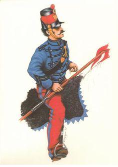 Volontario dei Lancieri di 'Masini', Repubblica Romana, 1848 - 1849