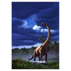 """Brachiosaurus"" by Jerry LoFaro: Acrylic painting, digitally remastered. Originally created for the children's book 'How Life Began', by Melvin Berger. Prehistoric Wildlife, Prehistoric Creatures, Dinosaur Illustration, Dinosaur Pictures, Illustration Techniques, Jurassic Park World, Extinct Animals, Dinosaur Art, Sky Art"