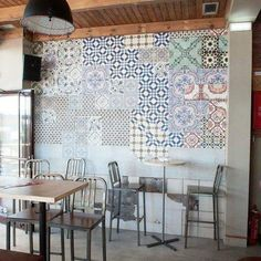 In het trapgat?! wall and deco wallcovering tell me tiles