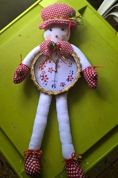 Reloj Navideño Muñeco de nieves rojo