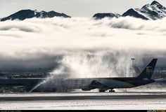 UPS - United Parcel Service aircraft at Anchorage - Ted Stevens Int photo Ted Stevens, Cargo Transport, Water Cannon, United Parcel Service, Cargo Airlines, Sky High, Airplanes, Fighter Jets, Transportation