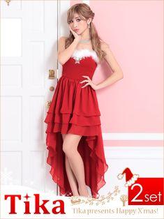 174eb44e9578d クリスマスドレス♪ ゆんころ ドレス着用 Tika ティカ サンタ 衣装 2set    RakutenIchiba