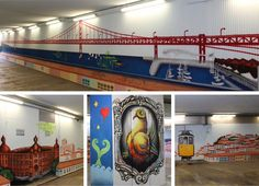 Must do in Lisbon: Street Art tour - via Go Live, Go Travel 21.06.2015 | Lisbon is one of the best cities in the world to spot street art. Do not miss this side and not go on a street art tour through the Portuguese capital. #lisboa #portugal #travel #tips Photo: Railway station Lisbon streetart