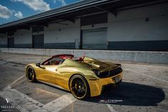 GOLDEN 458 SPIDER ON VELLANO WHEELS
