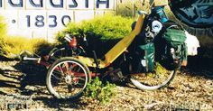 Side view of my recumbent trike in AWOL mode. Note the frame is now black.