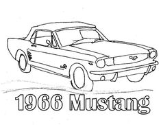 simple 1966 mustang drawing - Google Search