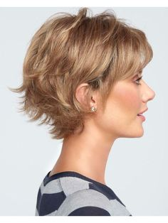 Boost wig by Raquel Welch - peinados cabello fino Short Hairstyles For Thick Hair, Haircuts For Curly Hair, Haircut For Thick Hair, Very Short Hair, Short Hair With Layers, Short Hair Cuts For Women, Easy Hairstyles, Curly Hair Styles, Hairstyle Ideas