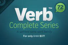 Verb: 72-Font Super Family (the complete series) via The Design Blog