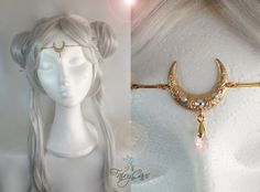 Tiara inspirada en Sailor Moon Crystal de FairyCaveShop en Etsy