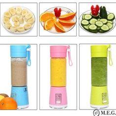 Portable USB Electric Fruit Citrus Juicer Bottle Handheld Milkshake Sm – Inspired to be the best you! Fruit Juicer, Citrus Juicer, Juicing With A Blender, Juice Blender, Healthy Fruit Smoothies, Smoothie Recipes, Healthy Foods, Healthy Eating, Juicer Reviews