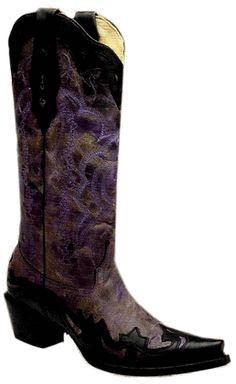 Rivertrail Mercantile - Corral Purple/Black Crater Wing Tip A2209, $210.00 (http://www.rivertrailmercantile.com/corral-purple-black-crater-wing-tip-a2209/)