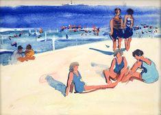 Jane Peterson Illinois 1876 – 1965 Kansas Beach Scene