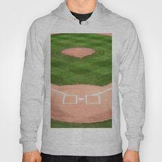 Baseball field /Baseballfeld Hoody by Karl-Heinz Lüpke - $42.00