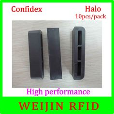56.00$  Buy now - http://aliwsm.worldwells.pw/go.php?t=32686509080 - Confidex Halo 10pcs per pack UHF RFID anti metal tag light weight tag with small foot print for asset manage free shipping