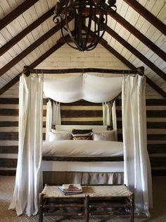 Lit Baldaquin En Bois Ou Fer Pour Une Atmosphère Romantique Canopy - Lit baldaquin romantique bois