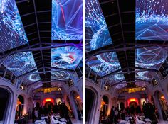 Complex Meshes Mapping Projection on a Loft's High Ceiling – Fubiz Media