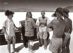 El Mirage Salt Flat Driver Photo by David Perry Fine Art Print
