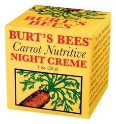 Burt's Bees - Carrot Nutritive Night Creme - 1 oz. by Burt's Bees, http://www.amazon.com/dp/B00014D0AC/ref=cm_sw_r_pi_dp_ft87rb1BK1XP2