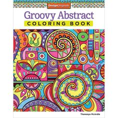 Design Originals Groovy Abstract Creative Colouring Book For Grown Ups