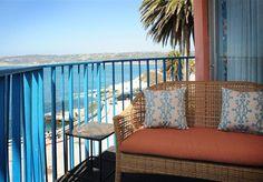 Balcony overlooking La Jolla Cove from our Deluxe Oceanfront One Bedroom Suites