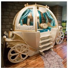 I found 'Enchanted Carriage Bed' on Wish, check it out!