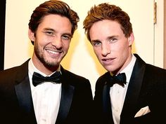 Star Tracks: Friday, October 31, 2014 | MEN IN BLACK | British actors Eddie Redmayne and Ben Barnes are two dashing dudes backstage at the Britannia Awards in L.A. on Thursday.