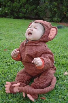 that is one unhappy monkey