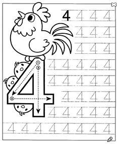New System-Suitable Numbers Line Study - Preschool Children Akctivitiys Preschool Writing, Numbers Preschool, Math Numbers, Preschool Printables, Preschool Learning, Kids Math Worksheets, Preschool Activities, Math For Kids, Kids Education
