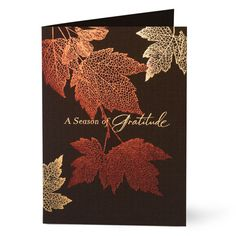 maybe make a book and every year add to it, with what you are thankful for. Corporate Holiday Cards, Diy Holiday Cards, Fall Cards, Diy Cards, Christmas Cards, Fall Wood Signs, Leaf Cards, Thanksgiving Cards, Card Patterns