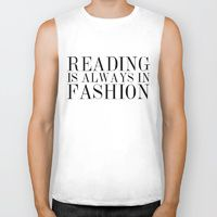 Biker Tank featuring Reading is Always in Fashion by bookwormboutique