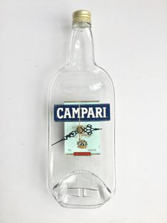 Campari Italian Liquor bottle clock by causewaybay on Etsy