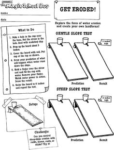 GET ERODED! printable activity sheet