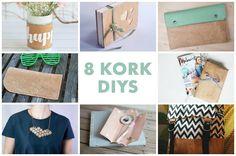 Tolle DIYs von Bloggern mit unserem Korkstoff von Makerist