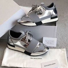 380cfab695 Price of cheap Balenciaga Race Runner Metallic   Black sneakers