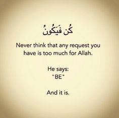 Request Allah