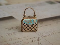 Antique Victorian purse locket pendant.