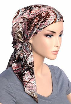 a59f128eead85 Bella Scarf 634-Pink Paisley - More Details Chemo Hair Loss