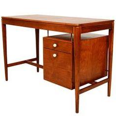 Midcentury Walnut Desk by Drexel