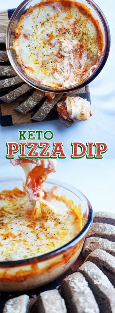 Super easy pizza dip! Keto, low carb. Great for dipping keto bread!