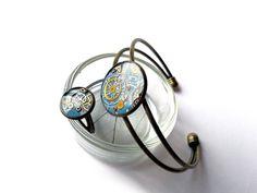 Resin Steampunk Bracelet Ring Vintage Watch by EmilyRayAccessories