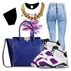 """""""Untitled #97"""" by trillest-fashionx ❤ liked on Polyvore featuring Valentino"""
