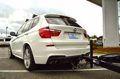 2014+ BMW X3 Invisi EcoHitch Trailer Hitch -Torklift Central #EcoHitch #eco #BMW #BMWX3 #X3 #bmwtowhitch #towhitch #hitch #hiddenhitch #bikerack #towing #trailerhitch