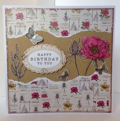 Card designed by Julie Hickey using Botanica collection Card Making Inspiration, Making Ideas, Craftwork Cards, Floral Theme, Xmas Ornaments, Card Tags, Paper Crafts, Card Crafts, Craft Work