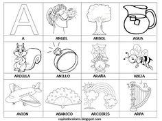 29 láminas del alfabeto para colorear     http://www.mediafire.com/?8cbsi5t21loq55s  Estas fichas han sido descargadas desde aquí .