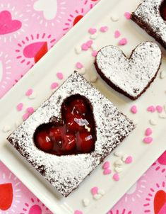 Cupids arrow hits the mark with these heart shaped brownie bites heart shaped brownies altavistaventures Images