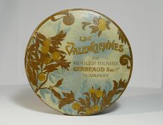 Korai Gerbeaud Les Valenciennes csokoládé doboz / Vintage Chocolate Box, Candy Box