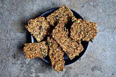 Scandinavian Multi-Seed Crispbread Recipe with A Fragrant Twist - food to glow Crispbread Recipe, Sweet Recipes, Vegan Recipes, Vegan Food, Bread Recipes, Spelt Bread, Twisted Recipes, Good Food, Yummy Food