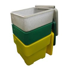 Model GCB060# #Salt and #Grit #Bin - 60 litres Manufactured from #tough, medium duty UV stabilised #polyethylene Hinged lid protects grit/salt from the elements Hasp and staple, wording and other colours are available upon request See more at: http://shop.hsil.co.uk/p-5207-salt-grit-bin-60l.aspx#sthash.8tM1t4GT.dpuf