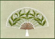 Kit broderie point de croix Eventail muguet 3643 Le Bonheur des Dames 3642.